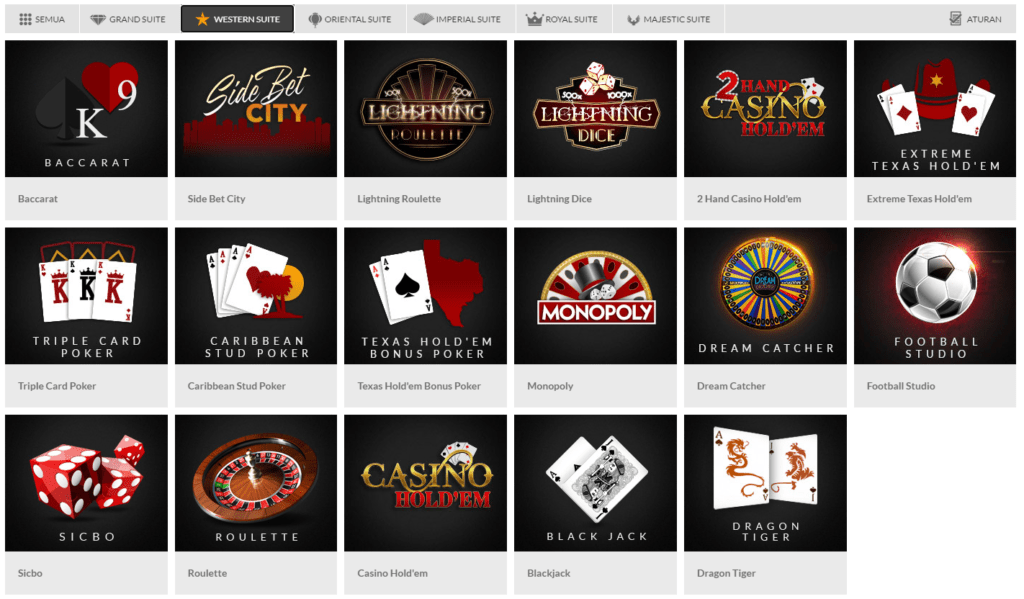 wester suite live casino