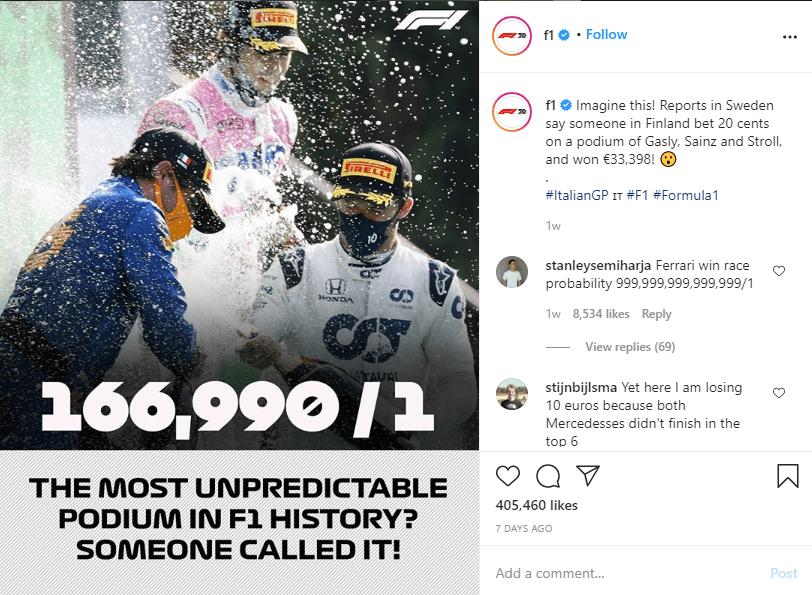 Formula 1 Instagram